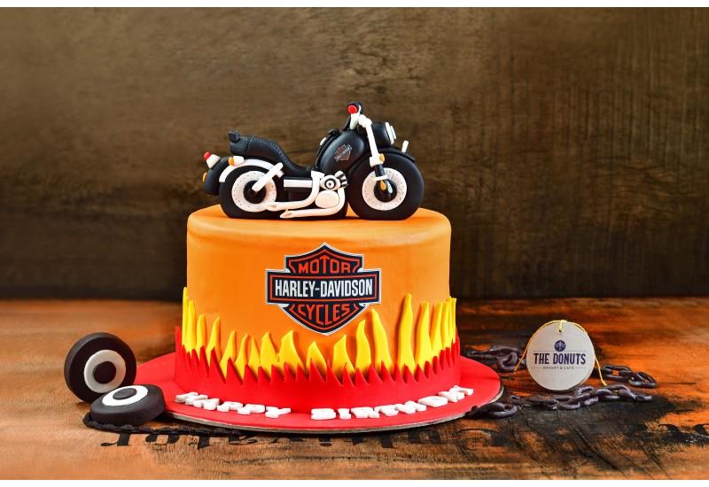 Harley Davidson Bike Theme  Cake