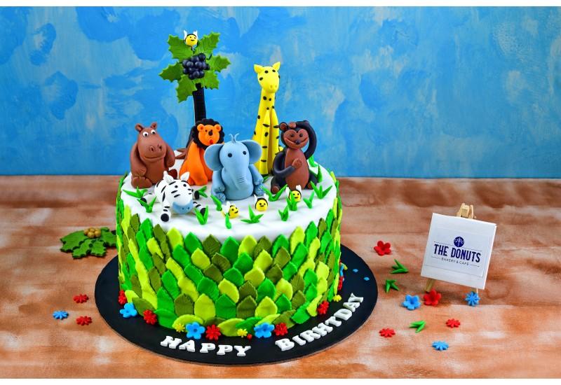 Kids Jungle Theme Cake